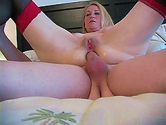 This old but sexy MILF takes the cock deep down her throat