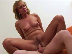 Hot mama lets a horny boy bang her from all angles