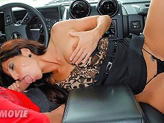 Check out this hot fucking red head milf suck a big cock in the car after getting picked up on the boardwalk in these hot fucking pussy fucking cumfac